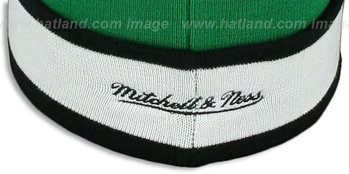 Celtics 'THE-BUTTON' Knit Beanie Hat by Michell & Ness
