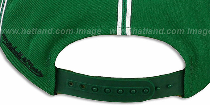 Celtics 'XL-LOGO SOUTACHE SNAPBACK' Green Adjustable Hat by Mitchell & Ness