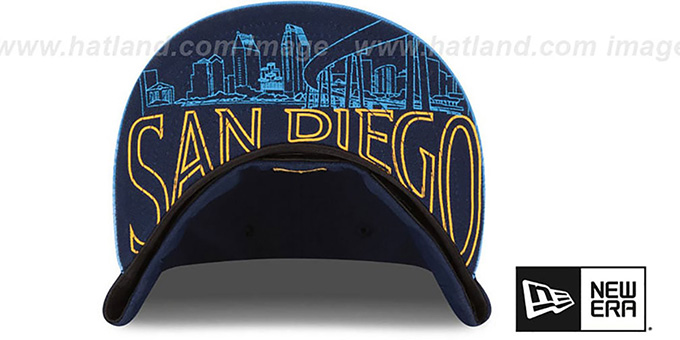 f4760996a2f ... Chargers  2015 NFL DRAFT  Navy-Blue Fitted Hat by New Era