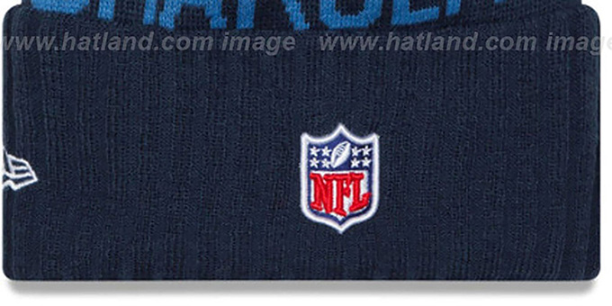 Chargers '2015 STADIUM' Navy-Sky Knit Beanie Hat by New Era