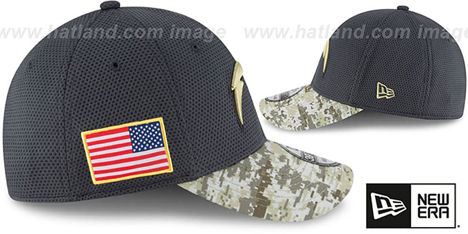 ... Chargers  2016 SALUTE-TO-SERVICE FLEX  Grey-Desert Hat by New 2373e19459ea