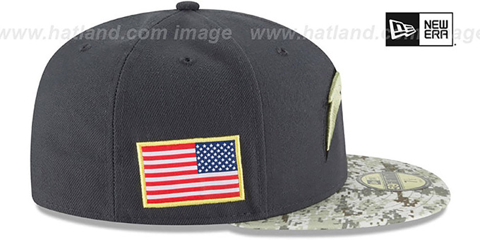 ... Chargers  2016 SALUTE-TO-SERVICE  Grey-Desert Fitted Hat by New b7abf4350af0