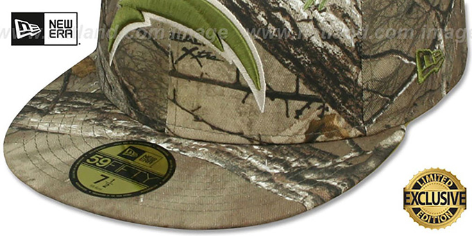 Chargers 'NFL TEAM-BASIC' Realtree Camo Fitted Hat by New Era