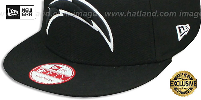 Chargers 'TEAM-BASIC SNAPBACK' Black-White Hat by New Era