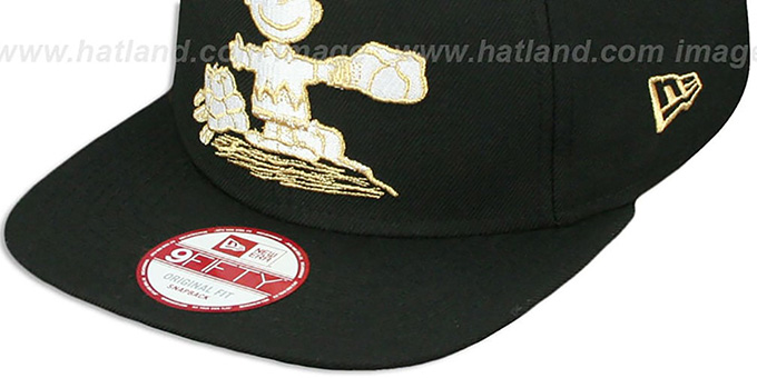 Charlie Brown 'THE PITCH SNAPBACK' Black Hat by New Era