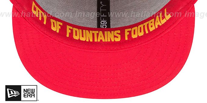 Chiefs '2018 ONSTAGE' Grey-Red Fitted Hat by New Era