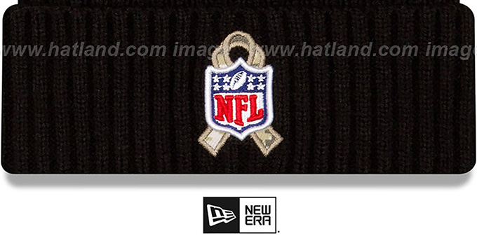 Chiefs '2020 SALUTE-TO-SERVICE' Black Knit Beanie Hat by New Era