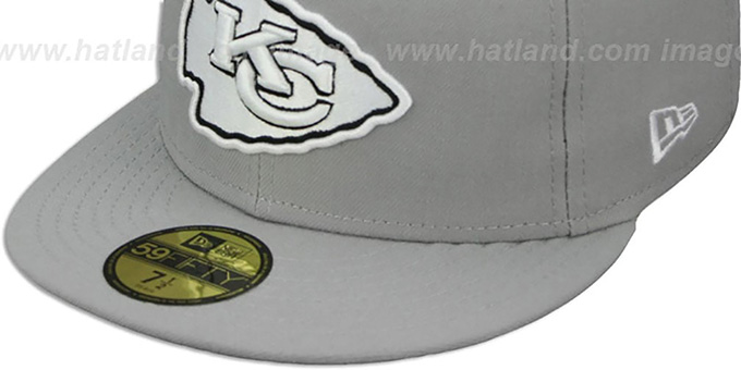 Chiefs 'NFL TEAM-BASIC' Grey-Black-White Fitted Hat by New Era
