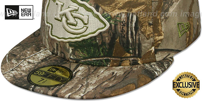 Chiefs 'NFL TEAM-BASIC' Realtree Camo Fitted Hat by New Era