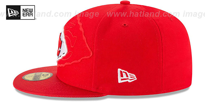 Chiefs 'STADIUM SHADOW' Red Fitted Hat by New Era