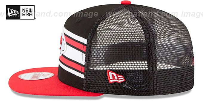 Chiefs 'THROWBACK-STRIPE SNAPBACK' Black-Red Hat by New Era