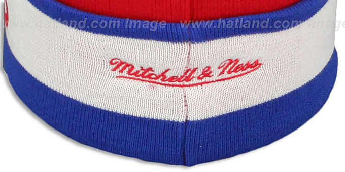 Clippers 'THE-BUTTON' Knit Beanie Hat by Michell & Ness