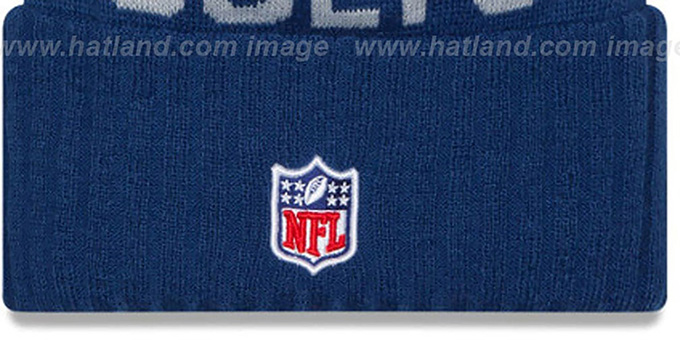 Colts '2015 STADIUM' Royal-Grey Knit Beanie Hat by New Era