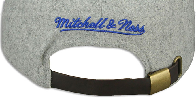 Colts '2T TAILSWEEPER STRAPBACK' Grey-Royal Hat by Mitchell & Ness