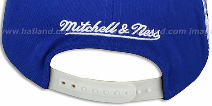 Colts 'LASER-STITCH SNAPBACK' Royal-White Hat by Mitchell & Ness
