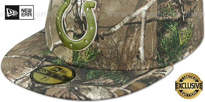 Colts 'NFL TEAM-BASIC' Realtree Camo Fitted Hat by New Era