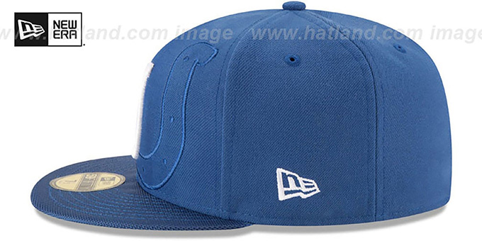 Colts 'STADIUM SHADOW' Royal Fitted Hat by New Era