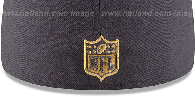 Cowboys '2015 NFL GOLD COLLECTION' Grey-Navy Fitted Hat by New Era
