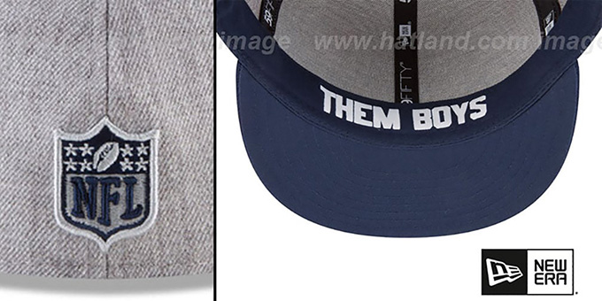 Cowboys '2018 ONSTAGE' Grey-Navy Fitted Hat by New Era