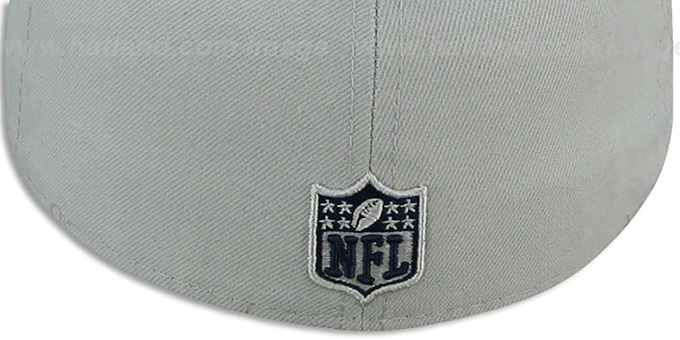 Cowboys 'BIG-D TEAM-PATCH' Grey-Navy Fitted Hat by New Era