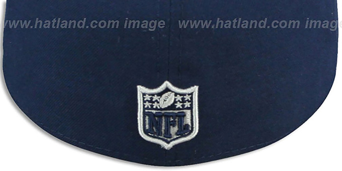 Cowboys 'CRAKLE-VIZE' Navy Fitted Hat by New Era