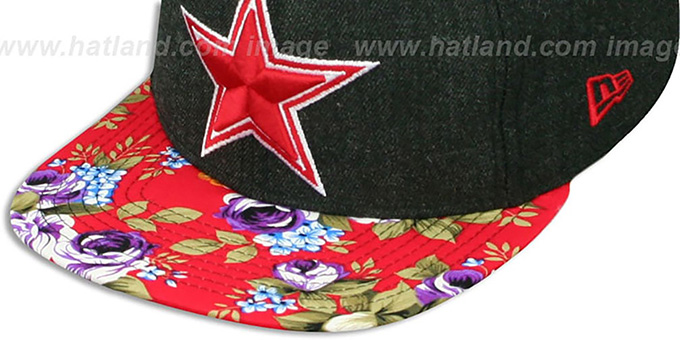 Cowboys 'HEATHER BLOOM SNAPBACK' Charcoal-Red Hat by New Era