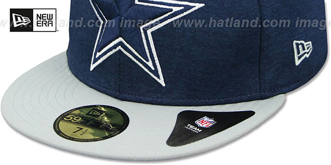 Cowboys 'HEATHER-HUGE' Navy-Grey Fitted Hat by New Era