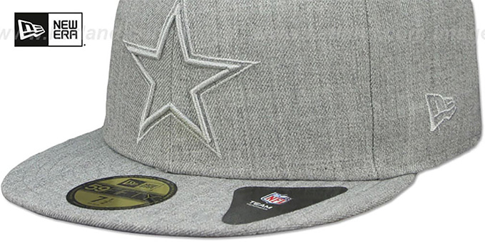 Cowboys 'HEATHER TWISTED FRAME' Grey Fitted Hat by New Era