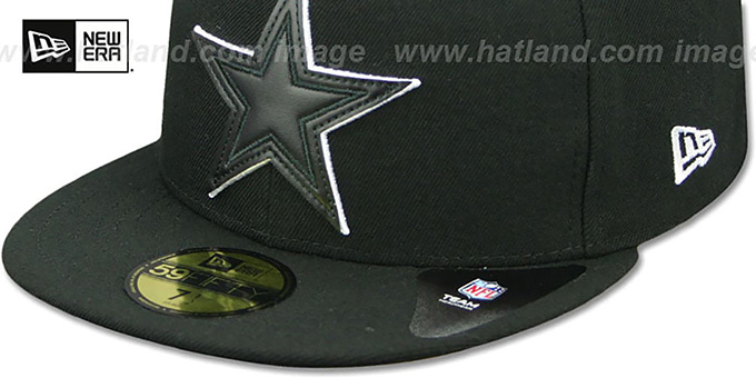 Cowboys 'LEATHER POP' Black Fitted Hat by New Era
