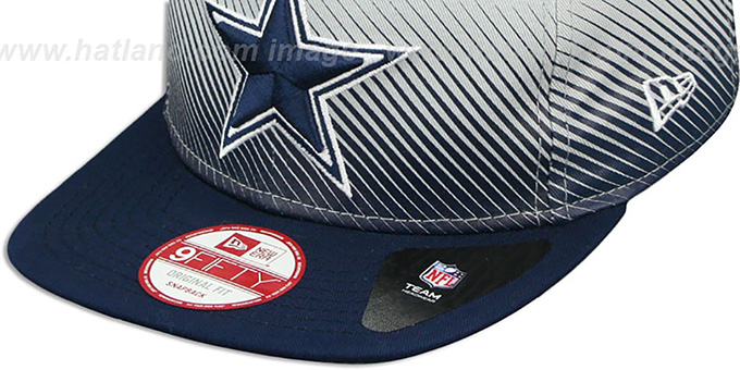 Cowboys 'LINE FADE SNAPBACK' Grey-Navy Hat by New Era