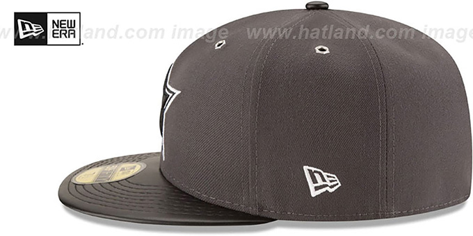 Cowboys 'METAL HOOK' Grey-Black Fitted Hat by New Era