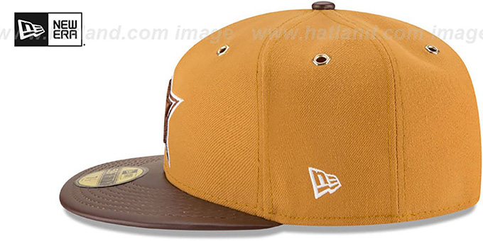 Cowboys 'METAL HOOK' Wheat-Brown Fitted Hat by New Era
