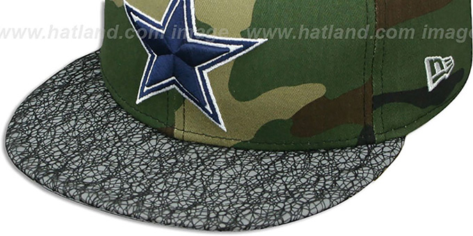 Cowboys 'METRIC-VIZA SNAPBACK' Army-Grey Hat by New Era