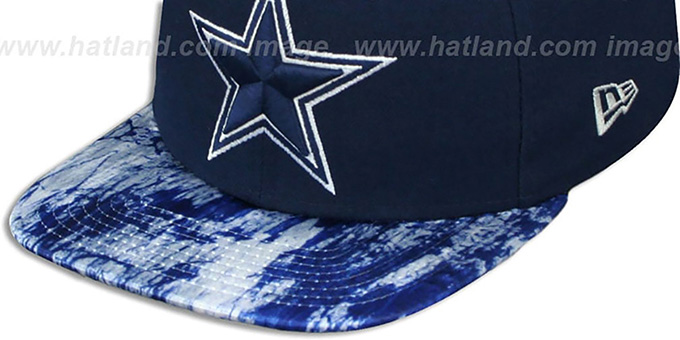 Cowboys 'PRINT PACE SNAPBACK' Navy Hat by New Era