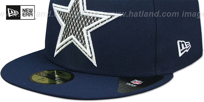 Cowboys 'SHIMMER-XL' Navy Fitted Hat by New Era