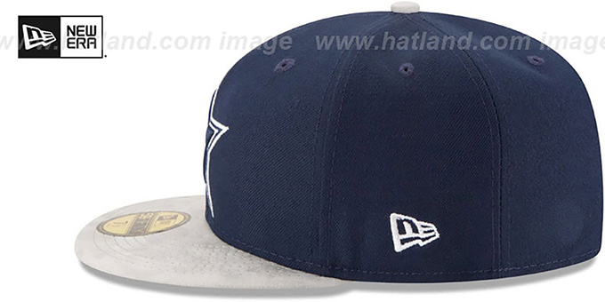 Cowboys 'TEAM SUEDE' Navy-Grey Fitted Hat by New Era