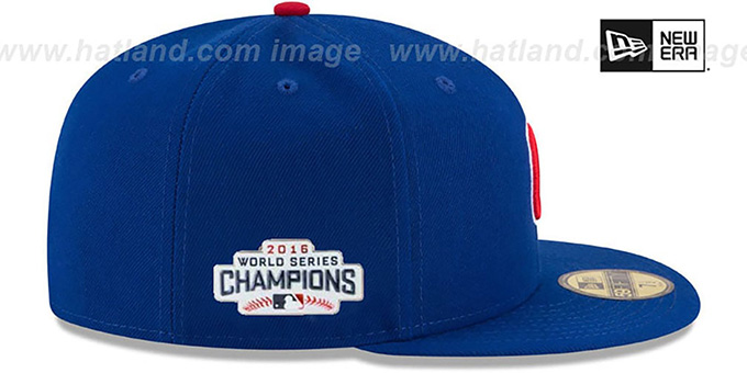 ... Cubs  2016 WORLD SERIES CHAMPIONS  Fitted Hat by New Era 18bebfac55