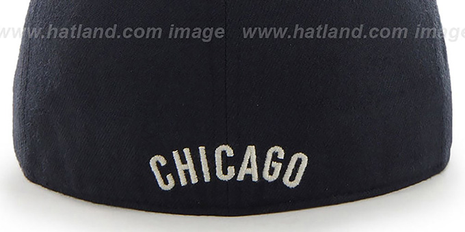 Cubs COOP 'CATERPILLAR' Navy Fitted Hat by 47 Brand