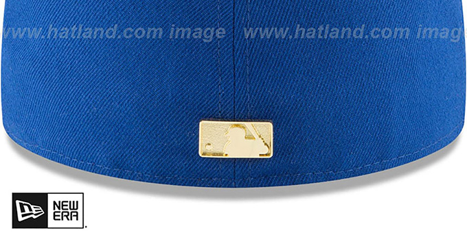 Cubs 'GOLDEN-BADGE' Royal-Red Fitted Hat by New Era