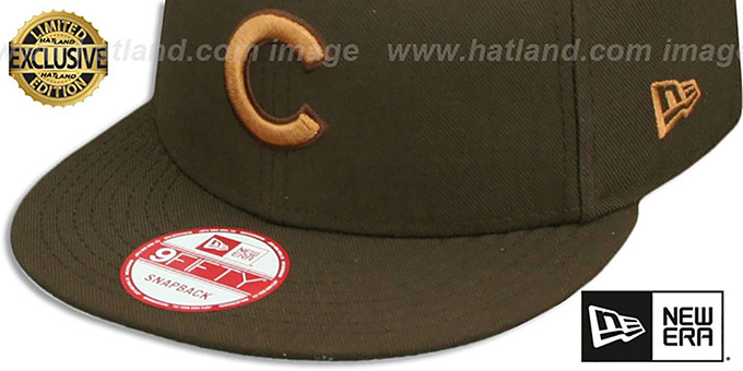 Cubs 'TEAM-BASIC SNAPBACK' Brown-Wheat Hat by New Era