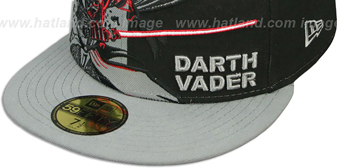Darth Vader 'PANEL-POP' Black-Grey Fitted Hat by New Era