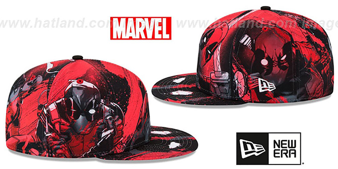 Deadpool 'HI-RES ALL-OVER' Fitted Hat by New Era