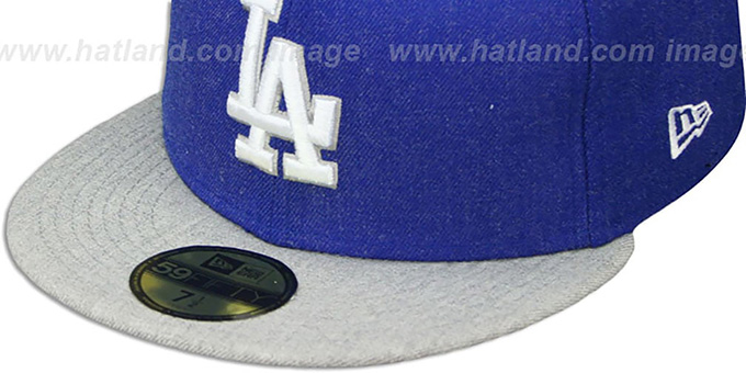 Dodgers '2T-HEATHER ACTION' Royal-Grey Fitted Hat by New Era