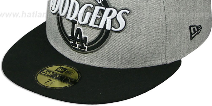 Dodgers 'CIRCLE-CLOSER' Grey-Black Fitted Hat by New Era