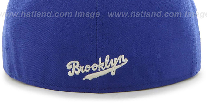 Dodgers COOP 'CATERPILLAR' Royal Fitted Hat by 47 Brand