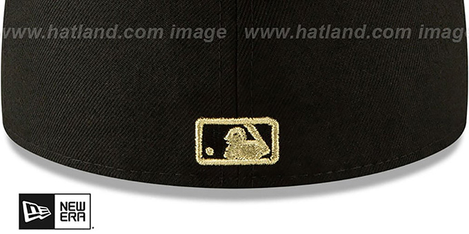 Dodgers 'GOLD SHATTERED METAL-BADGE' Black Fitted Hat by New Era