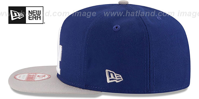 Dodgers 'LOGO GRAND REDUX SNAPBACK' Royal-Grey Hat by New Era