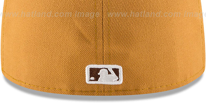 Dodgers 'METAL HOOK' Wheat-Brown Fitted Hat by New Era