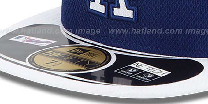 Dodgers 'MLB DIAMOND ERA' 59FIFTY Royal-White BP Hat by New Era