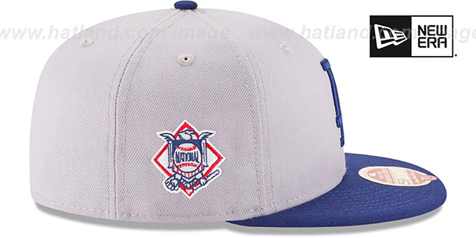 Dodgers 'MLB WOOL-STANDARD' Grey-Royal Fitted Hat by New Era